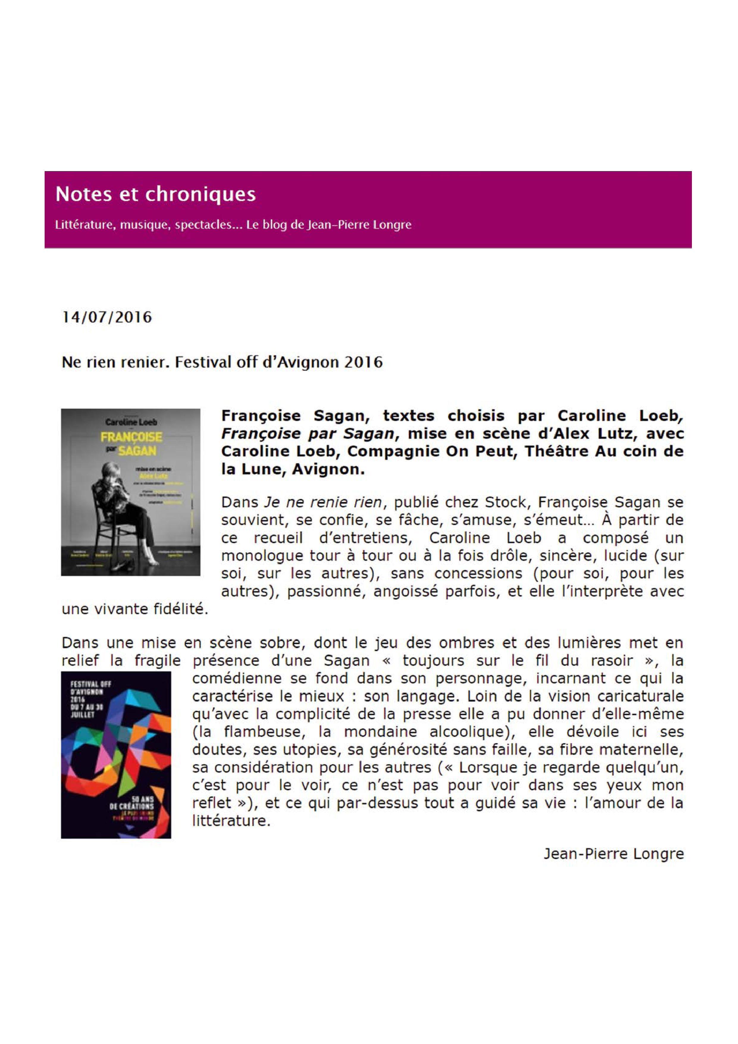 Notes et chroniques