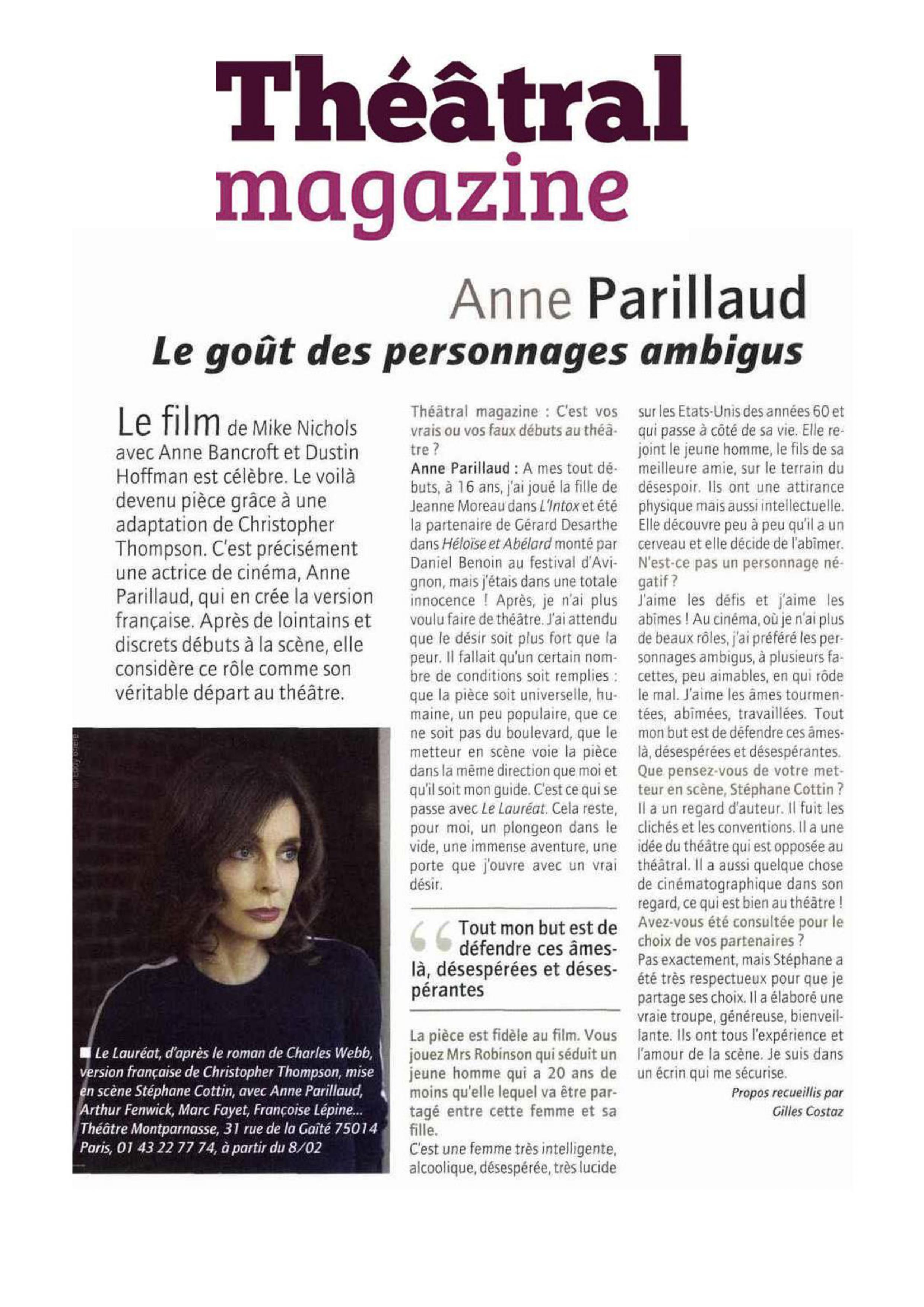 Théâtral magazine