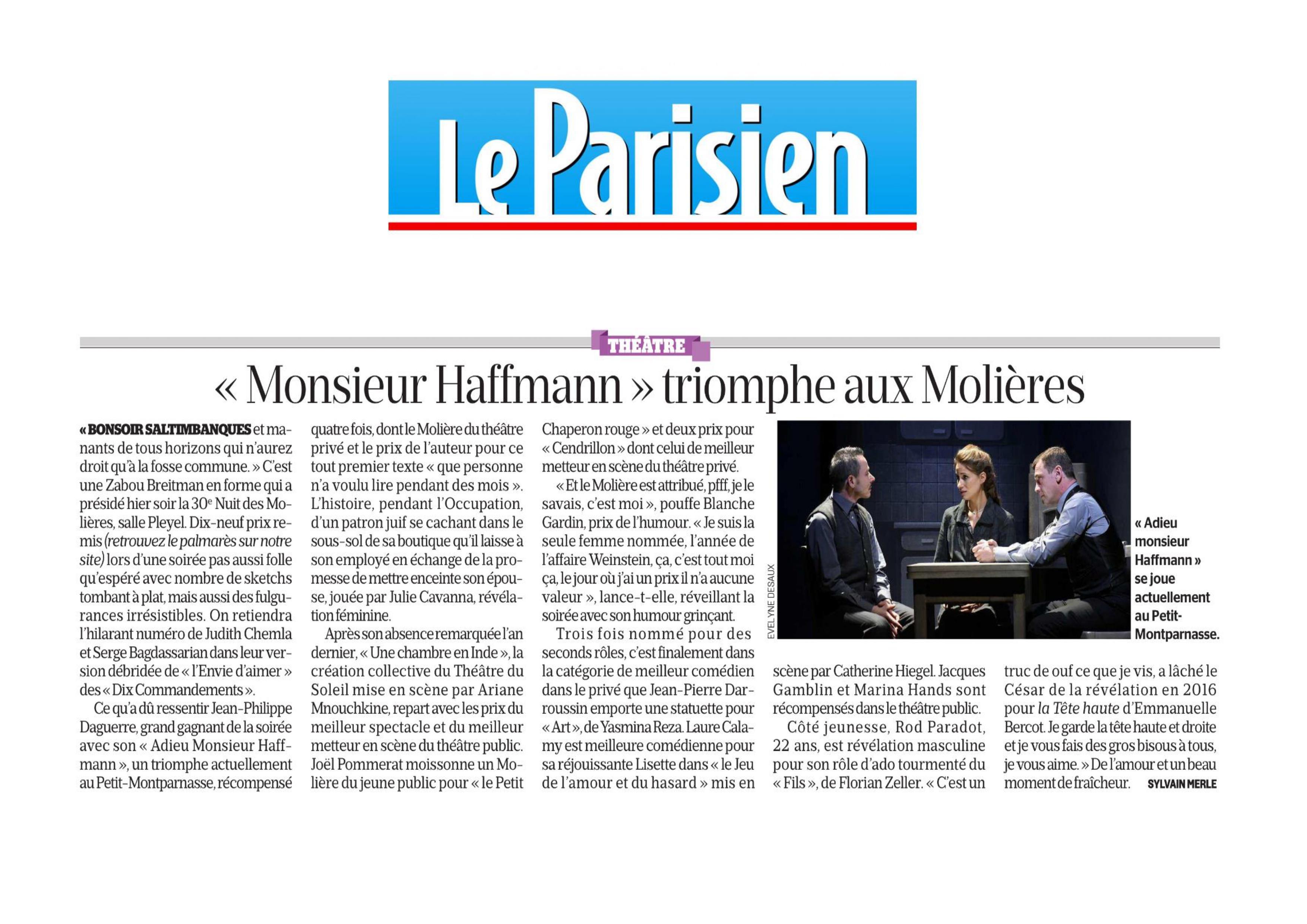 Le Parisien Molières