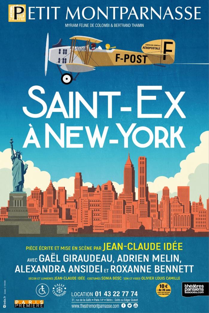 Affiche Saint-Ex à New-Yorkweb