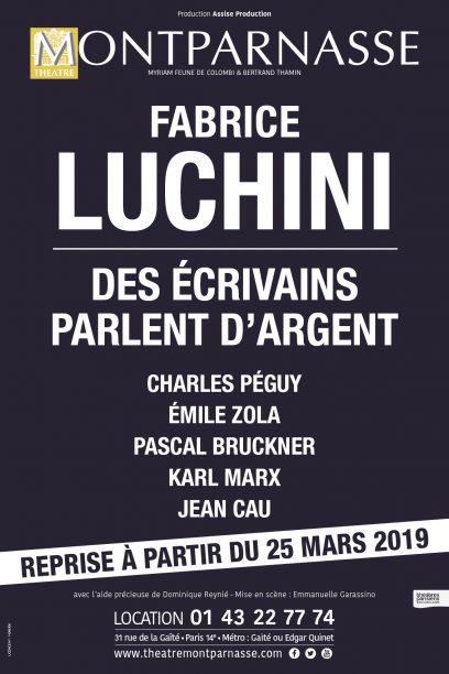 Fabrice LUCHINI – Des écrivains parlent d'argent