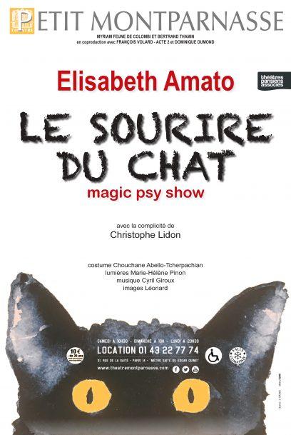 Affiche Le Sourire du Chat – Elisabeth Amato