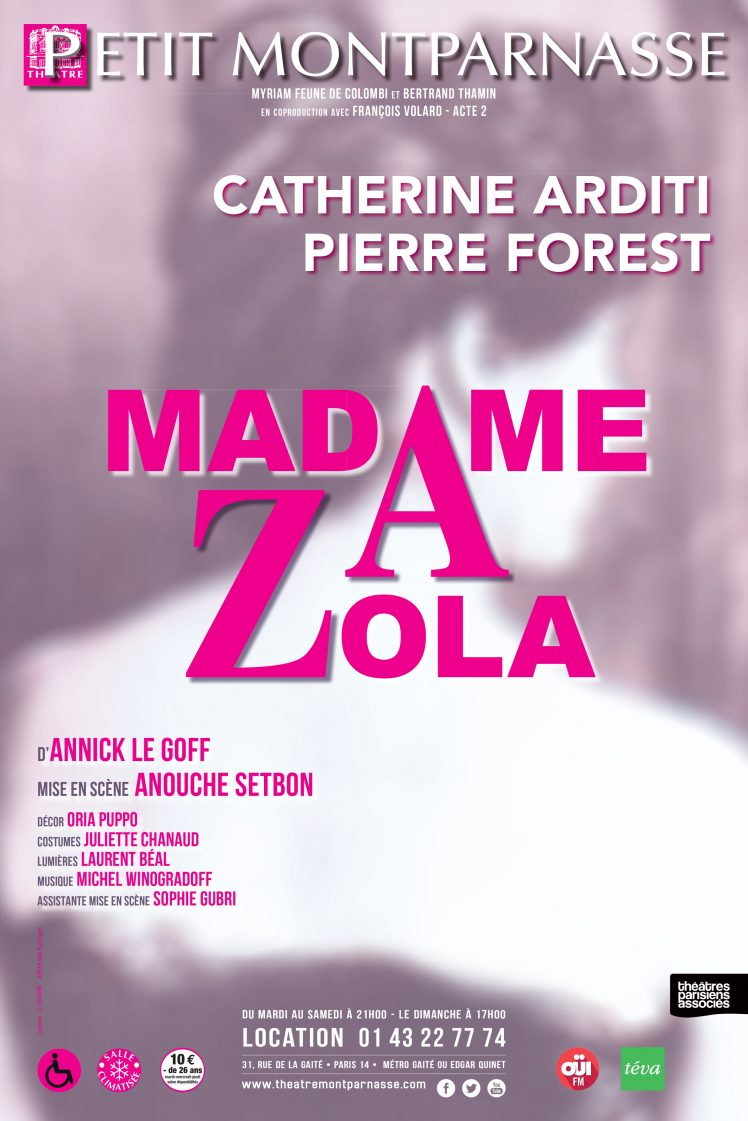 Affiche Madame Zola – version du 21 juin