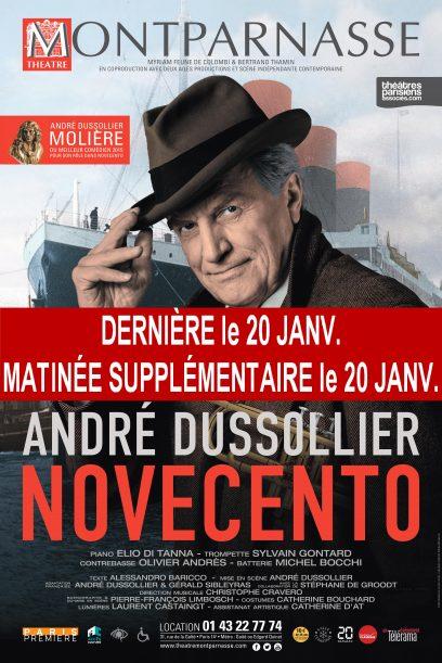 Affiche Novecento Dernière