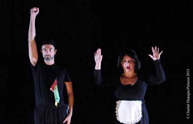 Isabelle Andr+®ani et Franck Jouglas dans ZIGZAG (Sc+¿ne 2) mise en sc+¿ne Xavier Lemaire DOPAGNE PALAZON DEP_5612