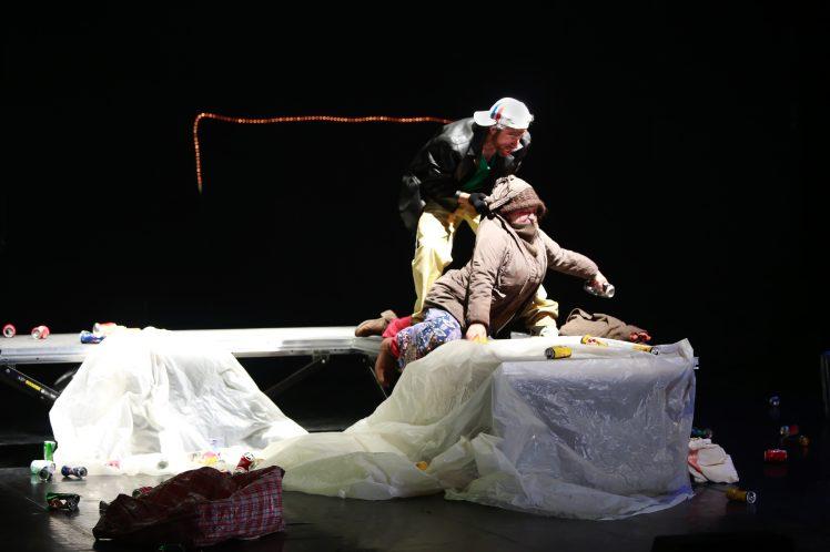 Isabelle Andr+®ani et Franck Jouglas dans ZIGZAG (Sc+¿ne 3) mise en sc+¿ne Xavier Lemaire _ JB 907